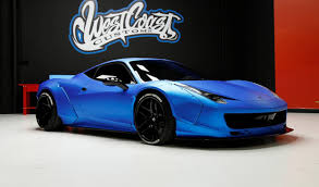 chrome ferrari 458 update sold justin bieber u0027s liberty walk ferrari 458 up for auction