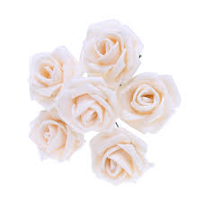 72pcs lot 3 5cm head pe artificial rose flowers for wedding