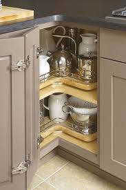 kitchen cabinet space corner storage turn useless corner space into maximum storage space chrome