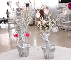 silver centerpieces silver manzanita tree centerpieces