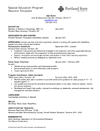Early Childhood Education Teacher Resume Early Childhood Education Skills Resume Best Free Resume Collection