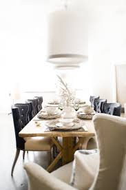 Black Dining Table White Chairs Eclectic Dining Room Design With Rustic Wood Dining Table Black