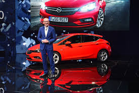 opel karl 2015 gm chief barra touts new opel astra at frankfurt show