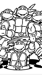 teenage mutant ninja turtle coloring pages timykids