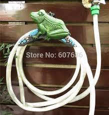 garden hose reel holder frog cast iron water hose hanger storage