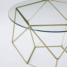 origami coffee table glass antique brass west elm au