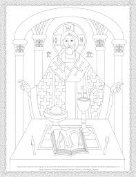 byzantine icon coloring page the holy eucharist catholic
