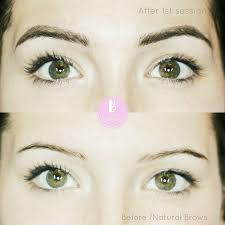 Eyebrow Tattoo Before And After Hair Stroke Eyebrow Tattoo In Vancouver B For Brows