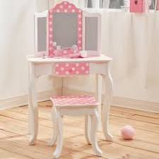 Girls Wooden Vanity Pretty Wooden Dressing Table With Stool For Wooden Furniture