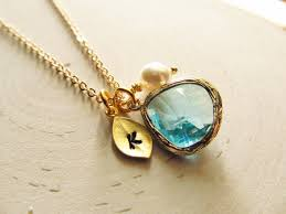 personalized birthstone jewelry birthstone necklace custom color gold leaf initial