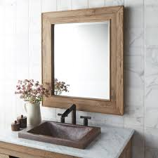 Wooden Bathroom Mirror Wooden Bathroom Mirrors With Shelf Bathroom Mirrors