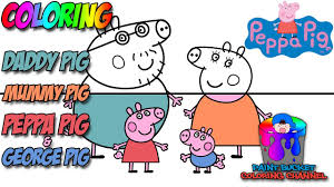 how to color peppa pig and friends peppa pig nickelodeon nick jr