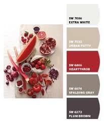 whole house color palette with red accent wall google search