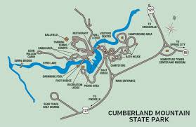 Map Of Tennessee River by Cumberland Mountain State Park U2014 Tennessee State Parks
