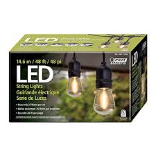 smartyard led string lights amazon com feit electric 710090 48ft led string light garden
