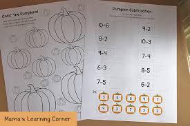 pumpkin worksheets for kindergarten and first grade mamas