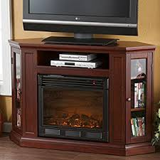 Corner Fireplace Tv Stand Entertainment Center by Amazon Com Electric Fireplace Tv Stand Heater Corner Or Flat Free