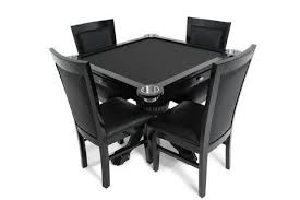 large multi game table levity black 4 person poker and multi game table with 4 dining