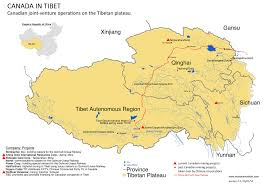 China World Map by Plateau Maps Meltdown In Tibet