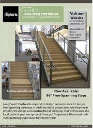 long span steptreads concrete stair treads steps