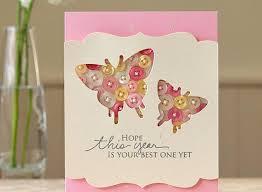 button butterfly birthday card allfreepapercrafts com