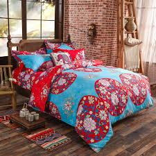 boho bedding bohemia pcs d bedding sets boho mandala duvet  with boho bedding set pcs duvet cover kingqueen size cotton bedspread sheets bed  luxury home from comprentoledocom