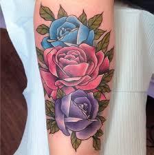 birthdate colors roses by sam frederick tattoonow