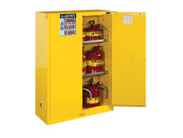 Yellow Flammable Storage Cabinet Sure Grip Ex Flammable Safety Cabinet Cap 45 Gallons 2 Shelves