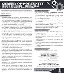 Resume Of An Electrician Trinidad And Tobago Electricity Commission Employment Opportunities