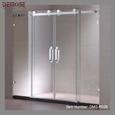sliding glass shower door telescopic sliding glass shower door