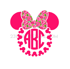 bow monogram minnie bow monogram decal 2313 glitter ave