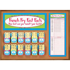 french fry fast facts multiplication and division kit