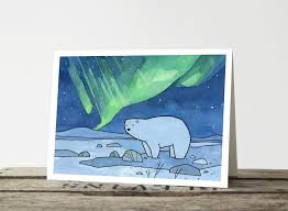 polar and northern lights cards studiotuesday