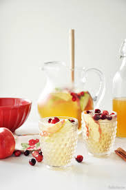 cocktails for thanksgiving apple cider sangria the chic site