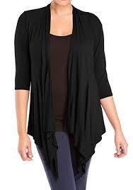 Drape Store Evogues Women U0027s Longline Drape Front Cardigan Black At Amazon