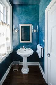 Tiny Powder Room Small Powder Room With Textured Blue Wall Color Ways To Paint A