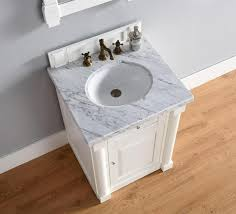 abstron 26 inch white finish single sink bathroom vanity optional