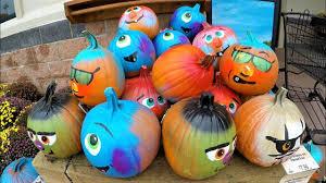 painted pumpkins at wegmen u0027s halloween 2017 4k resolution