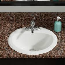 oval drop in sink mr direct vitreous china oval drop in bathroom sink with overflow ebay