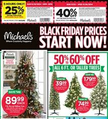 michaels black friday michaels pre black friday ad november 23 26 2014 7 ft pre lit