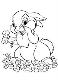 thumper holding flowers bunny coloring thumper