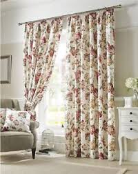 Floral Lined Curtains Flowers Floral Green Lined Pencil Pleat Curtains 9