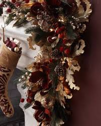 Pre Decorated Christmas Garland Tamilee Gold Garland Horchow Pinterest Gold Christmas