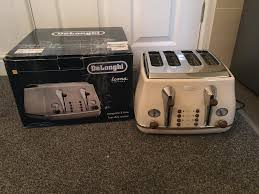 Toasters Delonghi Delonghi Ctov4003bg 4 Slice Vintage Icona Toaster Cream In