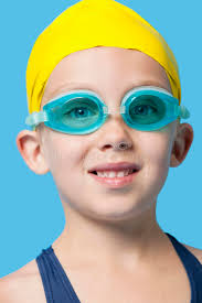 stickam omegle boy girl close up portrait of a happy young girl wearing swim cap and goggles