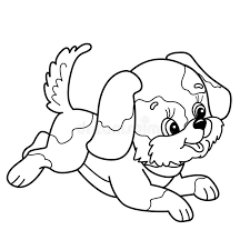 cartoon puppy coloring pages free download coloring page outline