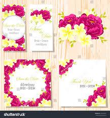 Weeding Invitation Card Wedding Invitation Cards Floral Elements Stock Vector 232238422