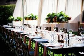 Wedding In Backyard by Hanging Floral Centerpieces In Backyard Wedding