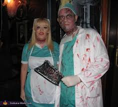 Doctor Costume Halloween Zombie Doctor U0026 Nurse Costume Costumes Halloween Parties