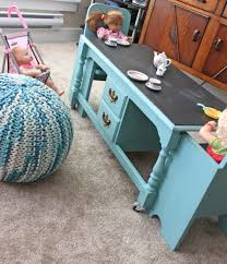 Repurposed Coffee Table by Re Purposing A Coffee Table Into A Kids Table